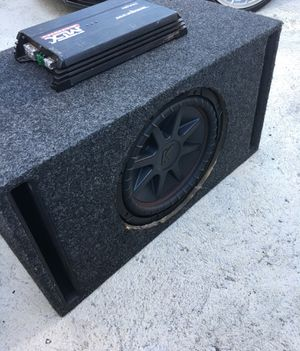 12 inch kicker sub with mtx amp for Sale in Bridgewater, MA