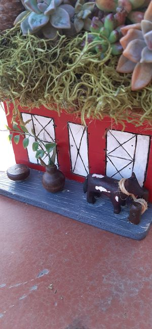Bird house with succulents for Sale in Hanford, CA
