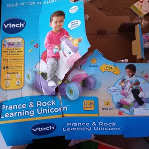 Brand New Unicorn Rocking Horse Box Ripoed Never Even Put Together 50$ OBO for Sale in Fresno, CA