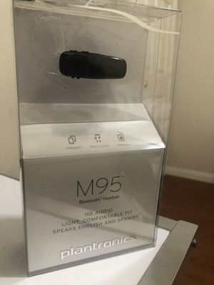 Plantronics - M95 Bluetooth Headset - Black for Sale in Katy, TX
