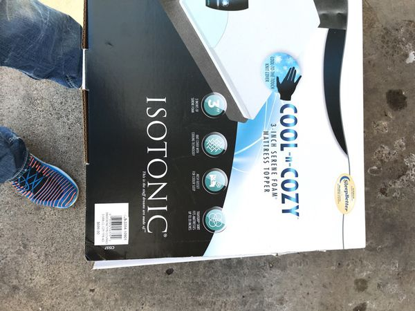 """Isotonic Cool-n-Cozy 3"""" Mattress Topper for Sale in White Bear Lake, MN -  OfferUp"""