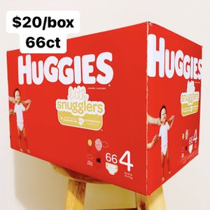 Size 4 (22-37 lbs) Huggies Little Snugglers (66 baby diapers) for Sale in Anaheim, CA