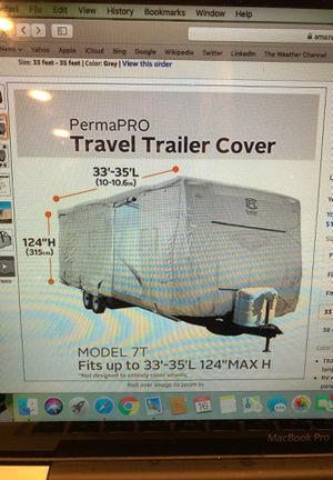 PermaPro Travel Trailer Cover for Sale in Spanaway, WA
