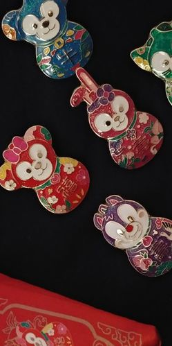 Shanghai Disney Lunar New Year Pins with Bag for Sale in Hacienda Heights,  CA