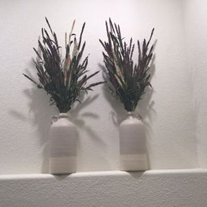 Textured Ceramic Vases With artificial Flowers for Sale in Thornton, CO