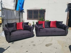 NEW JAGUAR BLACK FABRIC COUCHES for Sale in Lake Elsinore, CA