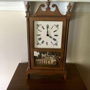 Antique mini Elgin grandfather clock for Sale in Apex, NC