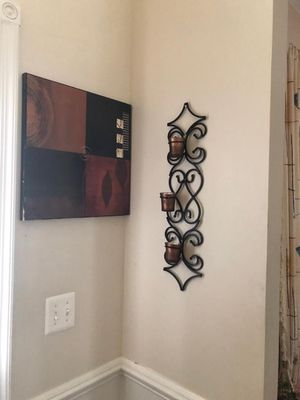 Candleholder & Wall piece for Sale in Ashburn, VA