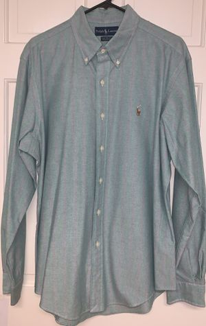 Classic Men's XL Green w/ Purple Stripes Polo Ralph Lauren Custom Fit Dress / Oxford Shirt for Sale in Rock Hill, SC