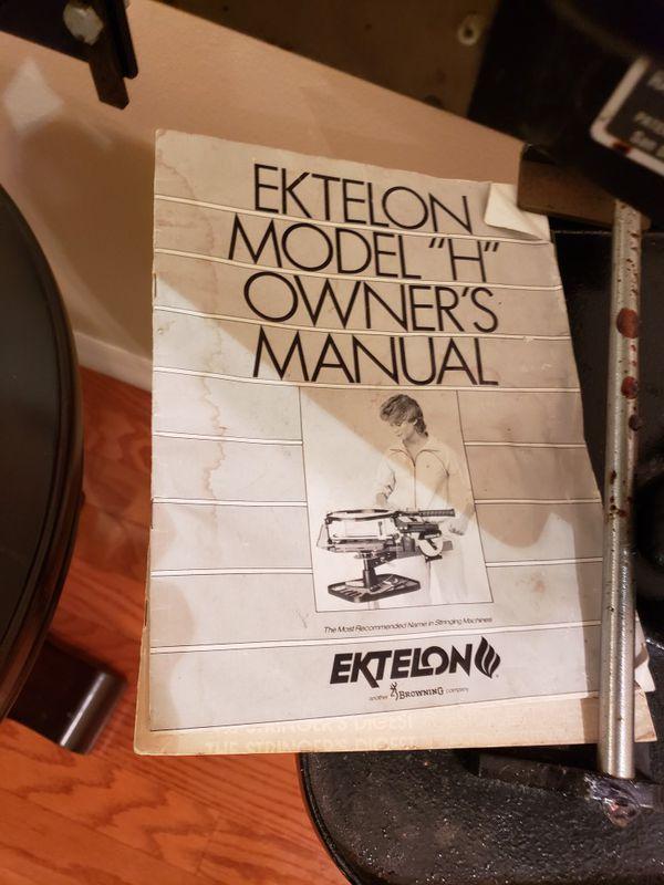 Tennis racket stringing machine Ektelon model h