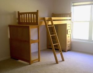 Twin Bunk Bed Set w/ Desk and Drawers for Sale in Chantilly, VA