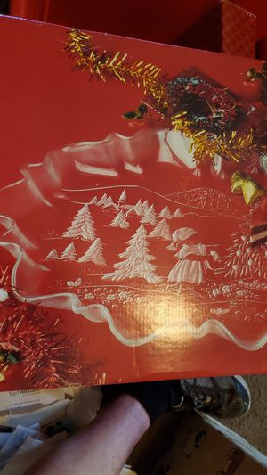 "Mikasa ""Christmas Story"" glass serving platter for Sale in Riverside, CA"