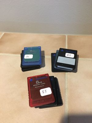 Official PlayStation 1 and 2 memory cards for Sale in Lynnwood, WA