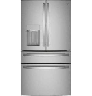 Pvd28bynfs – Ge Profile™ 27.9 Cu. Ft. Smart Fingerprint Resistant 4-door French-door Refrigerator With Door In Door for Sale in Portland, OR