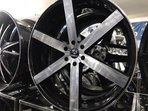 """26"""" black and machine face wheels rims and tires for Sale in Cicero, IL"""