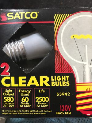 2 clear bulb for Sale in Chapel Hill, NC