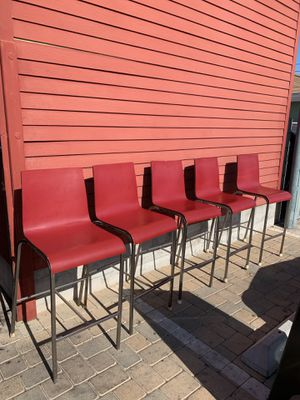 Red bar stools (5) for Sale in San Diego, CA