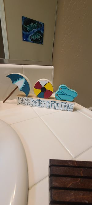 Life is better in flip flops DECOR for Sale in Bakersfield, CA
