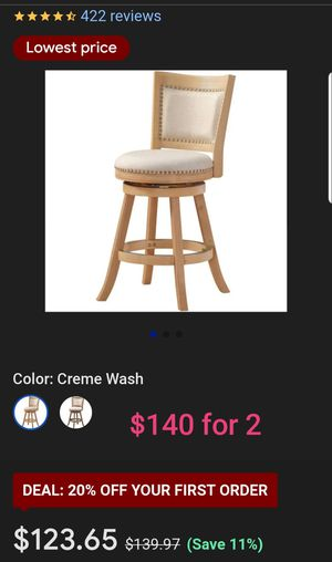 2 bar stools for Sale in IND HEAD PARK, IL