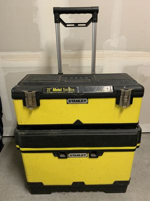 Stanley Double rolling tool box for Sale in San Ramon, CA
