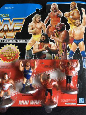 WWF hasbro mini figures still on card for Sale in SEATTLE, WA