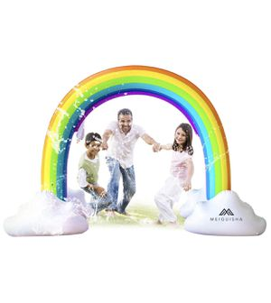 MeiGuiSha Inflatable Rainbow Yard Summer Sprinkler Toy, Over 6 Feet Long, Perfect for Summer Toy List for Sale in Vancouver, WA