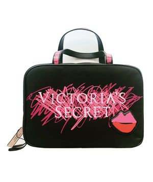 NEW Victoria Secret Hanging Lips Case Cosmetic Travel Case Bag Mists, lotions, makeup, brushes, lipsticks travel essentials 2 interior zip compartme for Sale in Davenport, FL