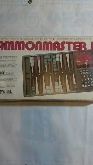 Gammonmaster 2 date of purchase 12-8-79 (with box ) complete (computer history museum game)RARE WITH BOX for Sale in Belleville, IL