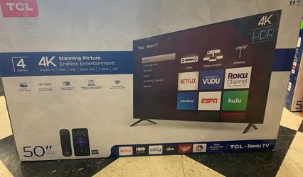 "Brand New TCL ROKU TV! 50"" w/ warranty. Open box OV for Sale in Glendale,  CA"