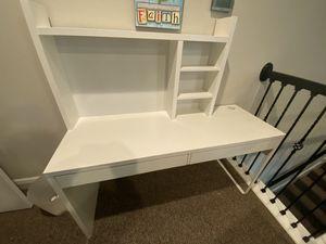 White IKEA Desk with Hutch for Sale in Winter Garden, FL