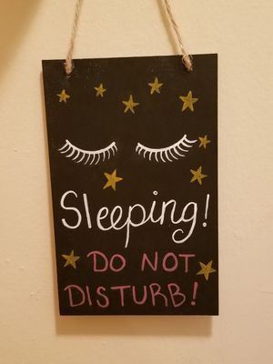 Sleeping door sign for Sale in Nashville, TN