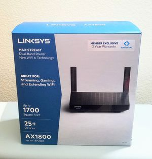 Linksys Max-Stream Router ax1800 for Sale in Loomis, CA