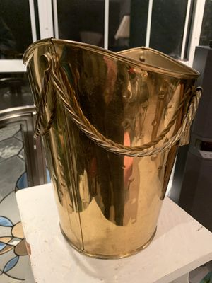 Brass decorative roped detailed bucket for plant/ trash can etc. for Sale in Columbia, MO