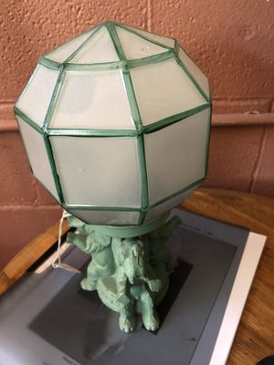 Green elephant table lamp antique for Sale in Cotati, CA