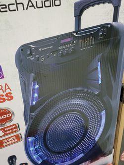"""New 15"""" Bluetooth Speaker Rechargeable DJ Karaoke ALL IN ONE for Sale in Houston,  TX"""