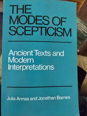 The Modes of Scepticism by Julia Barnes and Jonathan Barnes for Sale in San Luis Obispo, CA