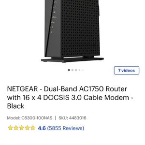 Netgear Dual Band - AC1750 Modem Router for Sale in Garden Grove, CA