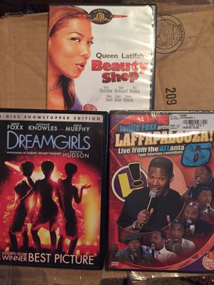Dvds dream girls laffapoloza and beauty shop for Sale in Jefferson City, MO