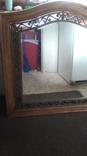 Solid Oak Wood an Metal Mirror for Sale in Modesto, CA
