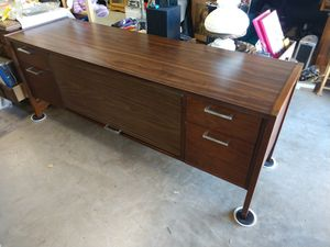 Vintage Credenza with Tambour Door Mortise & Tenon Joints for Sale in Hesperia, CA