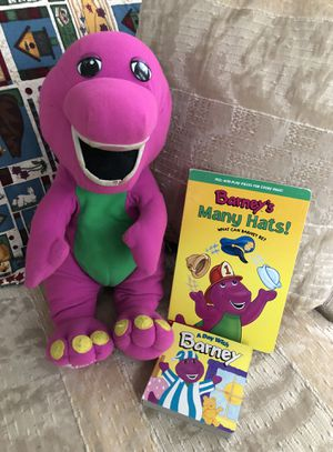 Vintage Talking Barney Plush with Books for Sale in Harrisburg, PA