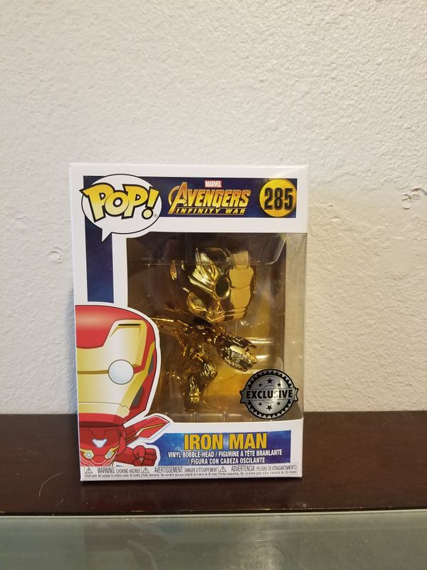 Gold chrome iron man funko pop
