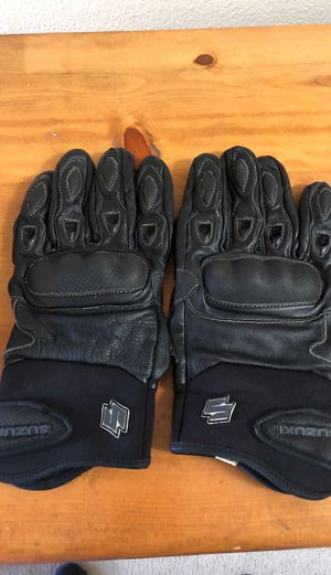 XXL Suzuki motorcycle leather gloves for Sale in Yorba Linda, CA