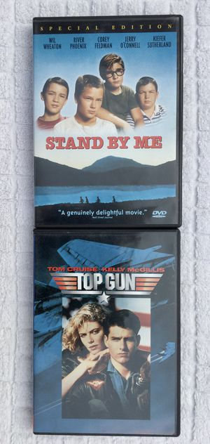 Stand By Me & Top Gun DVD Bundle for Sale in Fresno, CA