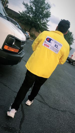Supreme yellow label coaches jacket for Sale in Vienna, VA