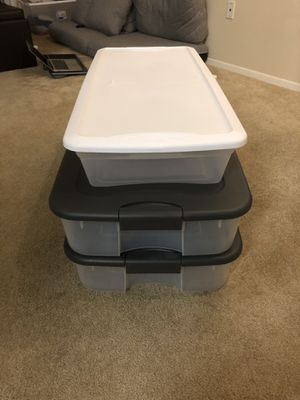 Under bed storage containers, set of 3 for Sale in Santa Clarita, CA