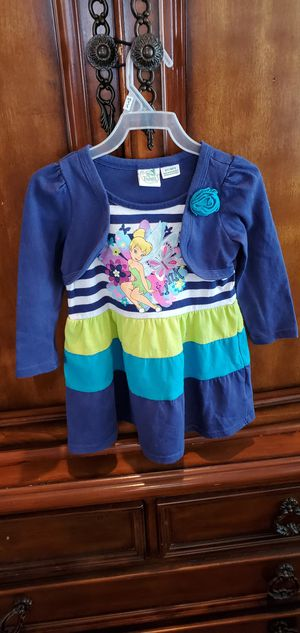 💜Toddler girl long sleeve Tinkerbell dress size: 3T for Sale in East Los Angeles, CA