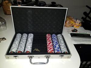 Poker chip set for Sale in Detroit, MI