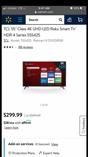 TCL 55 INCH SMART TV NEW NO BOX for Sale in Anaheim, CA