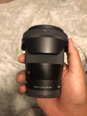 Sigma 16mm 1.4 for Sale in La Puente, CA